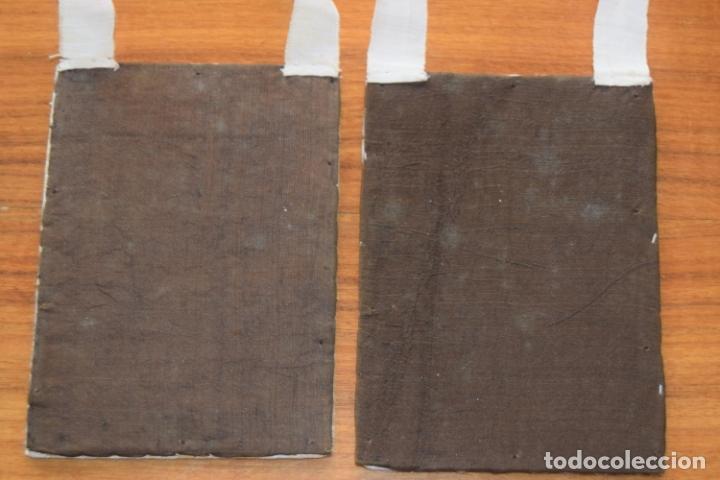 Antigüedades: escapulario del carmen bordado - Foto 4 - 175941349