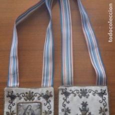 Antigüedades: ESCAPULARIO DE LA DOLOROSA BORDADO INDUMENTARIA . Lote 175941480