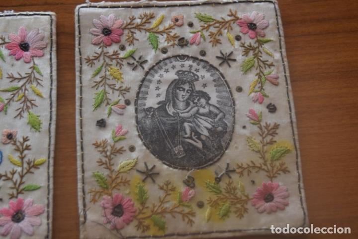 Antigüedades: escapulario bordado indumentaria - Foto 3 - 175941694