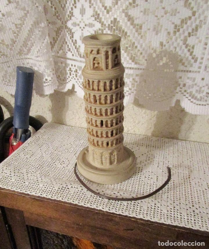 Antigüedades: ANTIGUA LAMPARA CON LA FORMA DE LA TORRE DE PISA, AÑOS 80. RECUERDO DE PISA - Foto 3 - 175943142