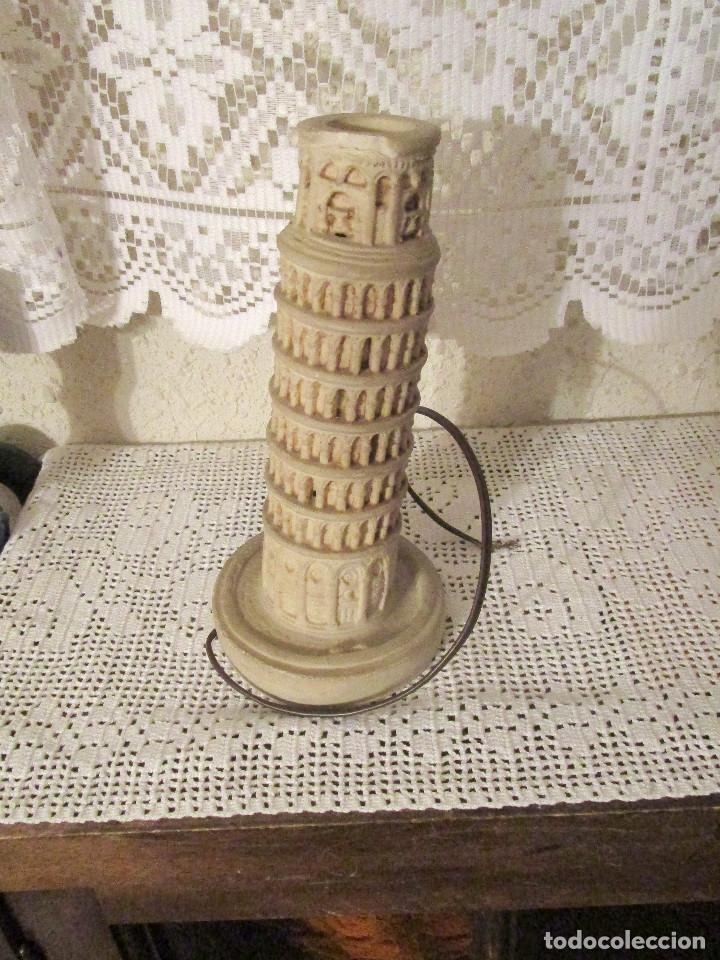 Antigüedades: ANTIGUA LAMPARA CON LA FORMA DE LA TORRE DE PISA, AÑOS 80. RECUERDO DE PISA - Foto 2 - 175943142