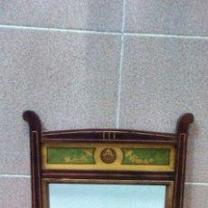 Antigüedades: ESPEJO DE MARQUETERÍA ANTIGUO. Lote 175946992