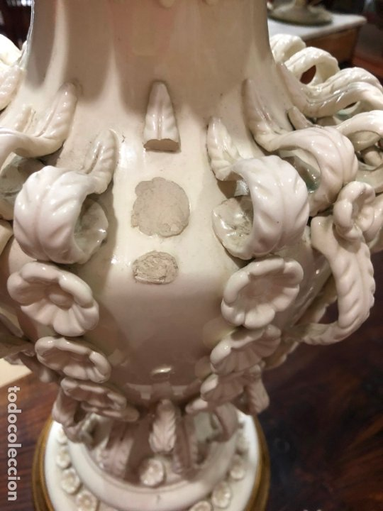 Antigüedades: FANTASTICA LAMPARA DE MESA CERAMICA MANISES XXL - MEDIDA 72 CM - Foto 18 - 175959490