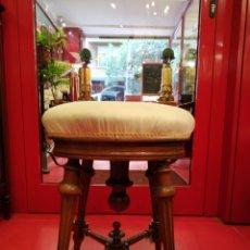 Antigüedades: BANQUETA SILLA DE PIANO. Lote 175964658