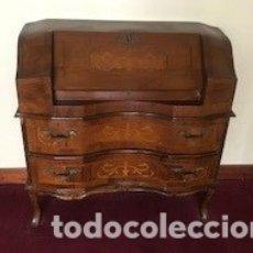Antigüedades: MUEBLE ESCRITORIO CON MARQUETERÍA. Lote 175980950
