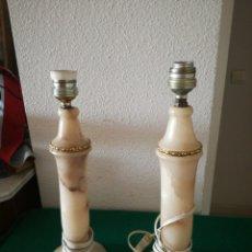 Antigüedades: PREJA DE LAMPARAS DE ALABASTRO. Lote 175981340