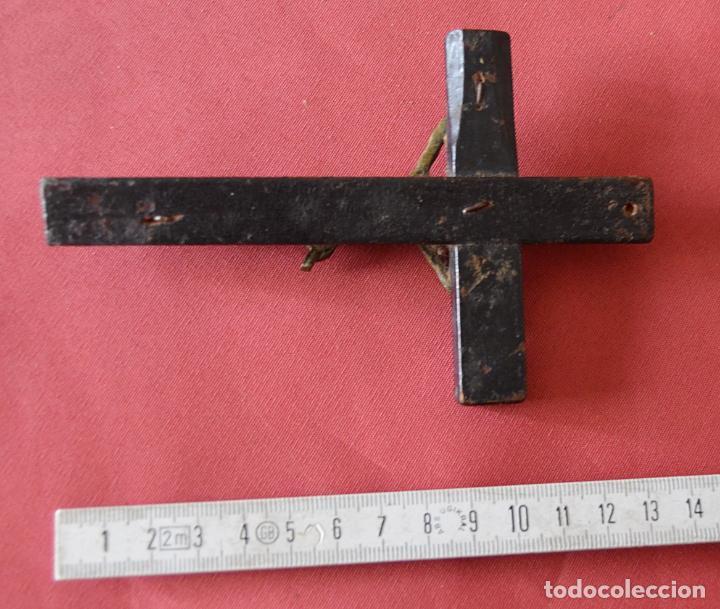 Antigüedades: CRUCIFIJO MUY ANTIGUO - CRUZ - 13 CM - Foto 3 - 175997827