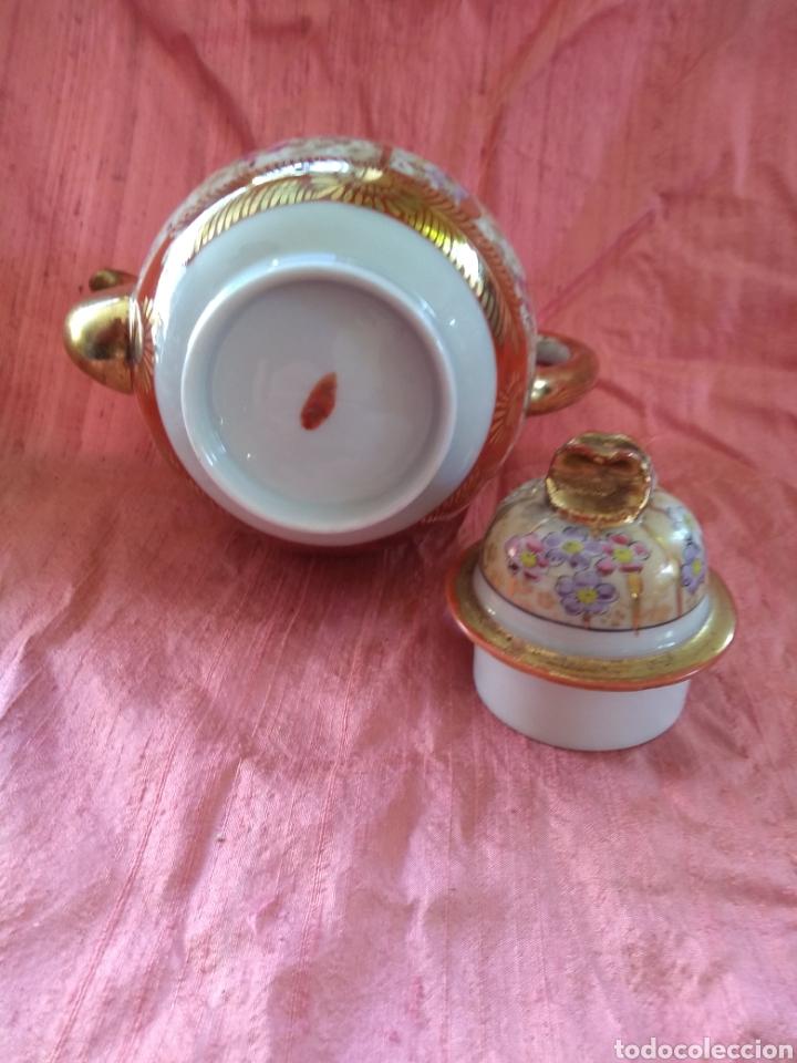 Antigüedades: Tetera porcelana japonesa kutani. Siglo XIX - Foto 6 - 176003467
