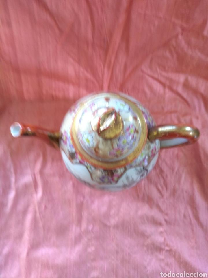 Antigüedades: Tetera porcelana japonesa kutani. Siglo XIX - Foto 5 - 176003467