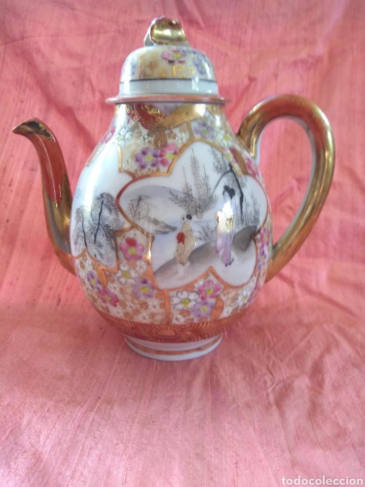 TETERA PORCELANA JAPONESA KUTANI. SIGLO XIX (Antigüedades - Porcelana y Cerámica - Japón)
