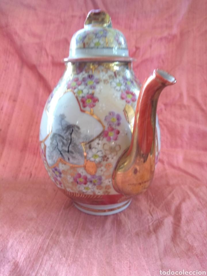 Antigüedades: Tetera porcelana japonesa kutani. Siglo XIX - Foto 3 - 176003467