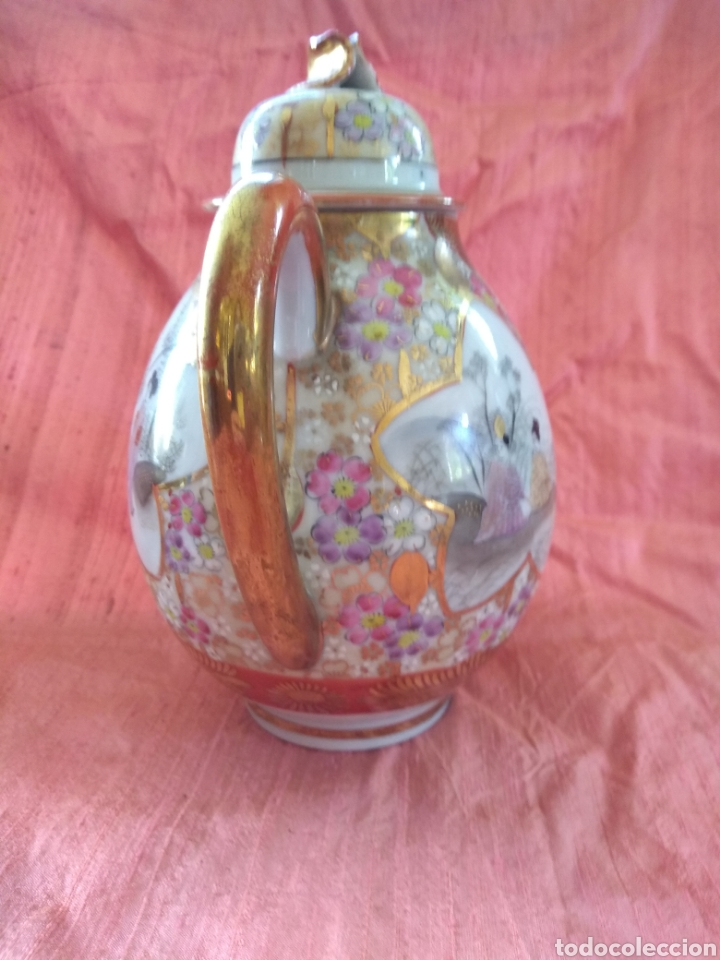 Antigüedades: Tetera porcelana japonesa kutani. Siglo XIX - Foto 4 - 176003467