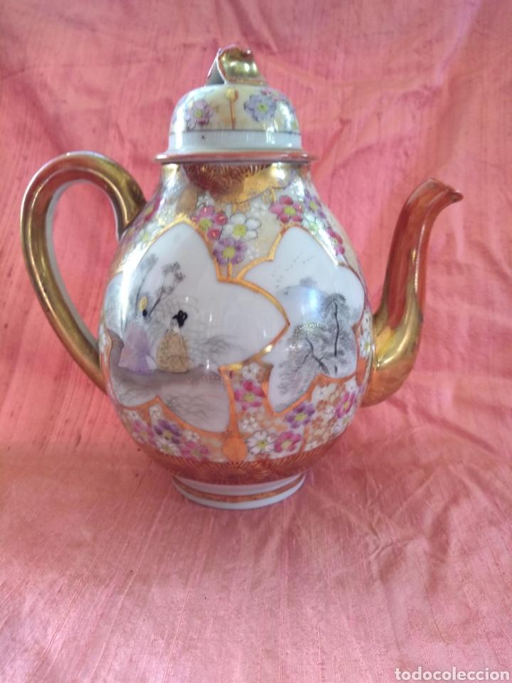 Antigüedades: Tetera porcelana japonesa kutani. Siglo XIX - Foto 2 - 176003467