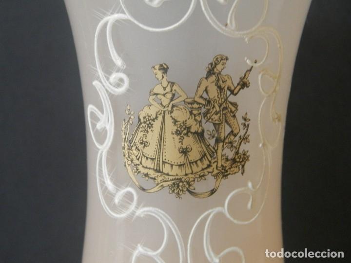 COPA OPALINA ROSA IMAGEN FRANCESA PINTURA A MANO (Antigüedades - Hogar y Decoración - Copas Antiguas)