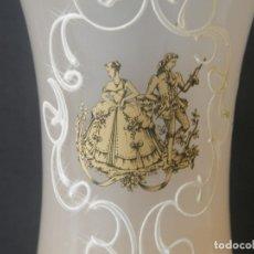 Antigüedades: COPA OPALINA ROSA IMAGEN FRANCESA PINTURA A MANO. Lote 176005018