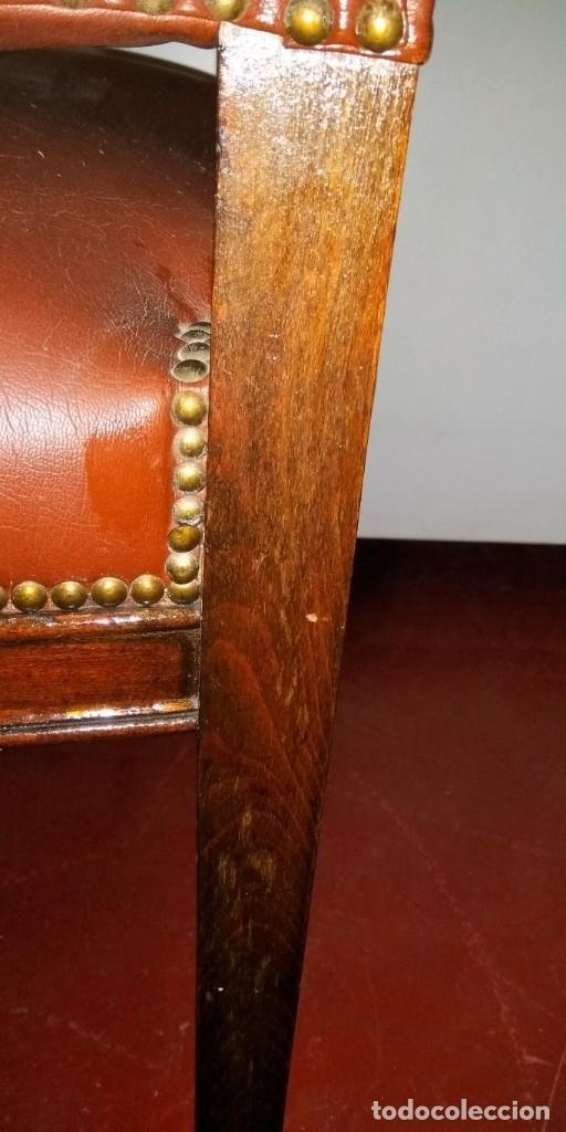 Antigüedades: SILLÓN ANTIGUO EN MADERA DE CASTAÑO - Foto 10 - 176048070
