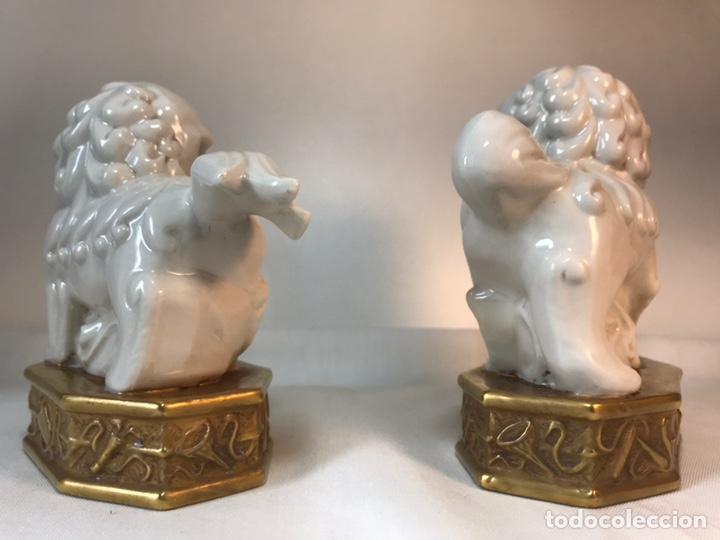 Antigüedades: Figuras Porcelana-España- Algora - Dos Perros Foo - Foto 10 - 176054885
