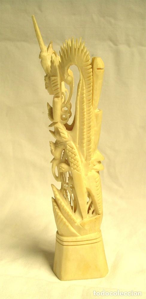 Antigüedades: Totem de la Fertilidad hueso tallado años 40, buen estado. Med. 19 cm - Foto 4 - 176064810