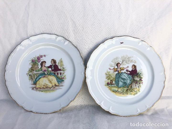 2 PLATOS EN PORCELANA DE LIMOGES (Antigüedades - Porcelana y Cerámica - Francesa - Limoges)