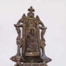 Antigüedades: BENDITERA DE METAL ANTIGUA. Lote 176076112