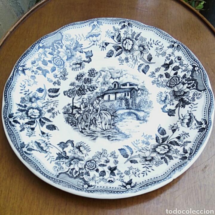 Antigüedades: Plato de porcelana inglesa Ironstone. - Foto 2 - 176082887