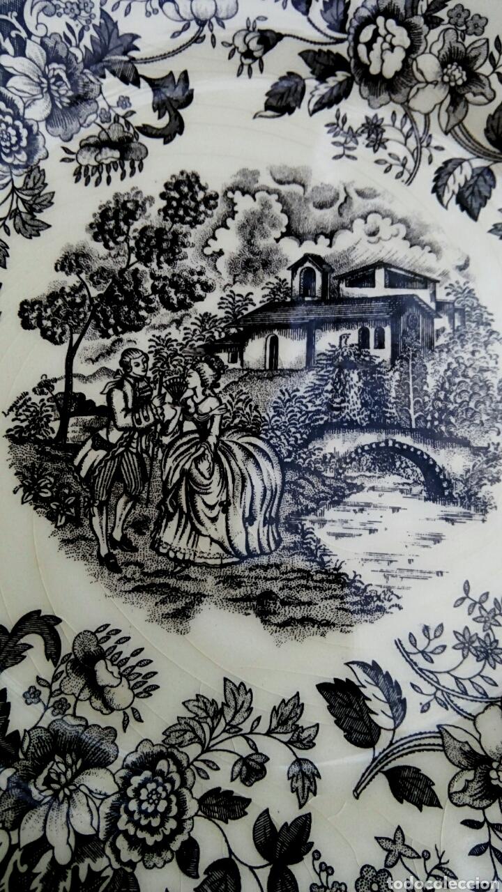 Antigüedades: Plato de porcelana inglesa Ironstone. - Foto 3 - 176082887