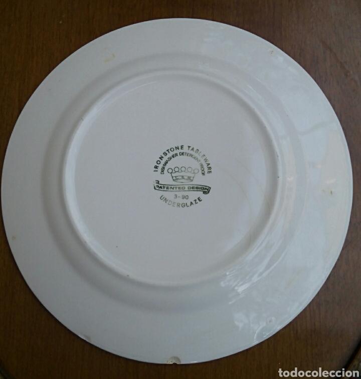 Antigüedades: Plato de porcelana inglesa Ironstone. - Foto 5 - 176082887
