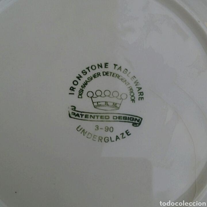 Antigüedades: Plato de porcelana inglesa Ironstone. - Foto 6 - 176082887