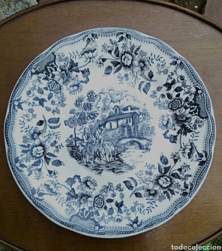PLATO DE PORCELANA INGLESA IRONSTONE. (Antigüedades - Porcelanas y Cerámicas - Inglesa, Bristol y Otros)