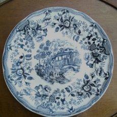 Antigüedades: PLATO DE PORCELANA INGLESA IRONSTONE.. Lote 176082887