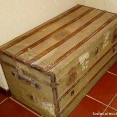 Antigüedades: BAÚL VIAJE SIGLO XIX. Lote 176086037