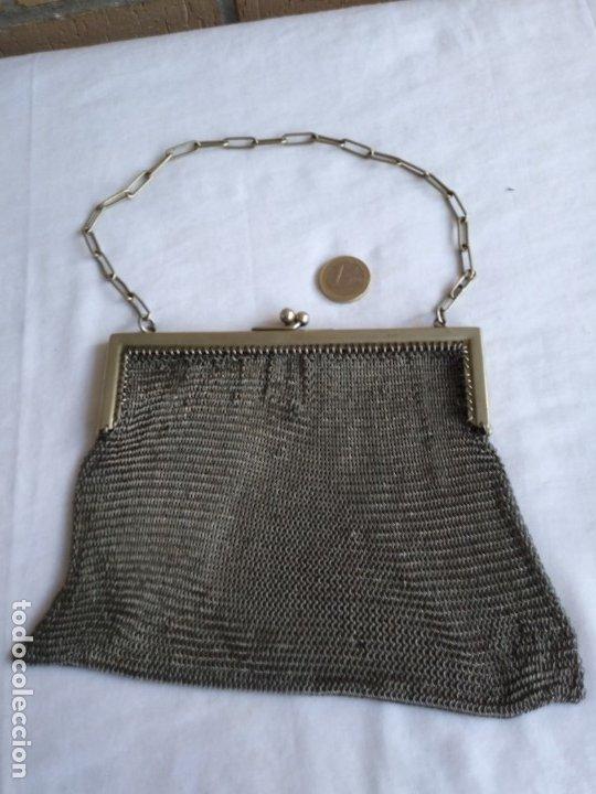 Antigüedades: BOLSO MALLA PLATA NO. Y. GUANTES - Foto 3 - 176094324