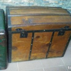 Antigüedades: ANTIGUO Y PRECIOSO BAÚL DE MADERA. Lote 176104070