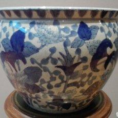 Antigüedades: MACETERO PORCELANA CHINA, ALTO 24 DIAMETRO 31.. Lote 176106855