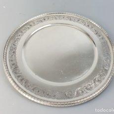 Antigüedades: BANDEJA EN PLATA LEY MARCADO CON CONTRASTE. Lote 176111020