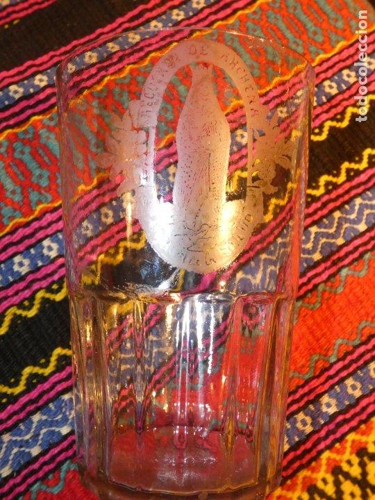 MURCIA. ANTIGUO VASO DE CRISTAL BALNEARIO DE ARCHENA,VIRGEN DE LA SALUD, MIDE 17 X 11 X 8 CMS (Antigüedades - Cristal y Vidrio - Otros)