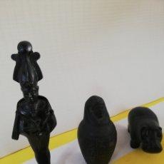 Antigüedades: ANTIGUO CONJUNTO DE ESCULTURAS EGIPCIAS. Lote 176127048