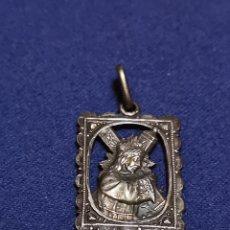 Antigüedades: MEDALLA DE PLATA DEL CRISTO DE URDA. Lote 176132872