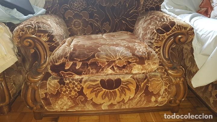 Antigüedades: Conjunto de sofas 3 plazas mas 2 sillones. - Foto 2 - 176140078