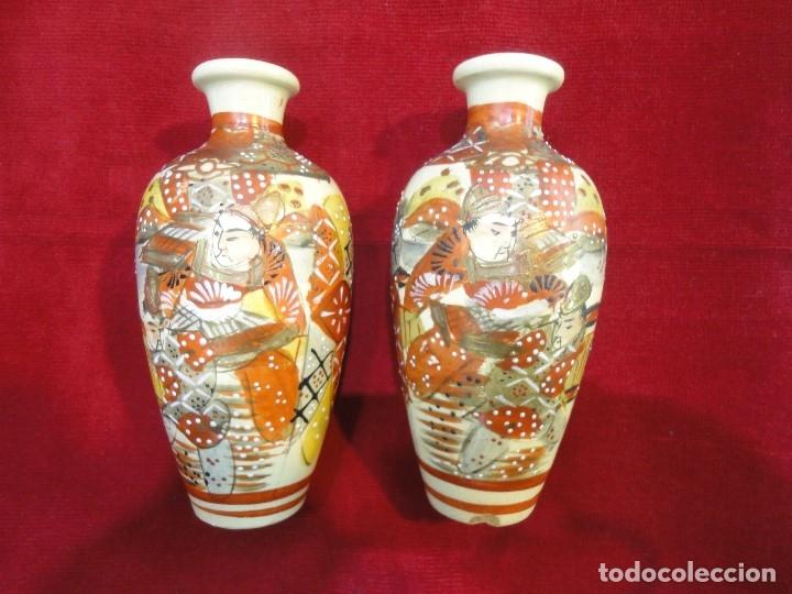 PAREJA DE JARRONES PORCELANA (Antigüedades - Porcelanas y Cerámicas - Otras)