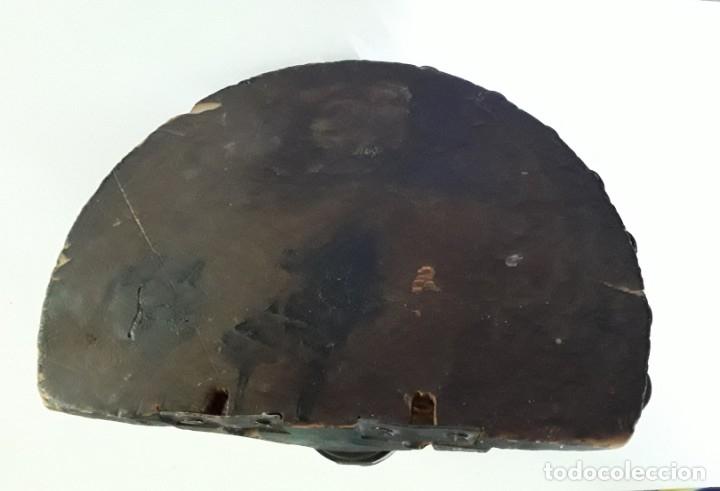 Antigüedades: Antigua repisa o ménsula de madera maciza tallada - Foto 7 - 176166054