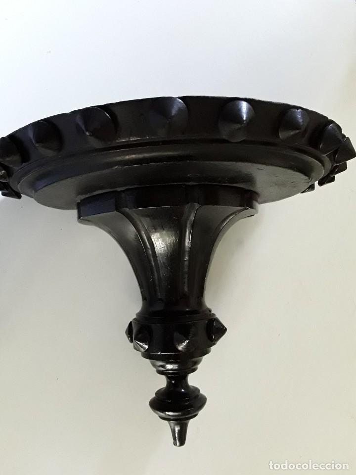 Antigüedades: Antigua repisa o ménsula de madera maciza tallada - Foto 8 - 176166054