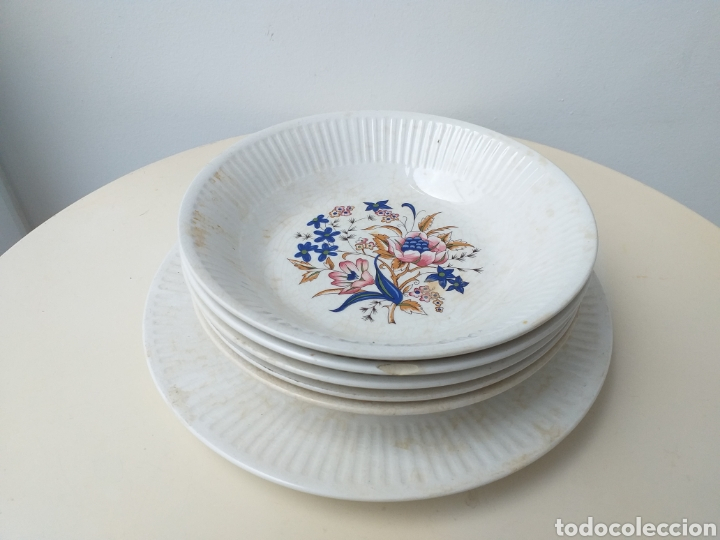 Antigüedades: Lote 6 platos antiguos de cerámica de Vargas Segovia - Foto 2 - 176173688
