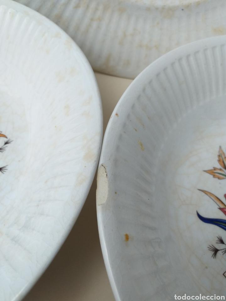 Antigüedades: Lote 6 platos antiguos de cerámica de Vargas Segovia - Foto 3 - 176173688