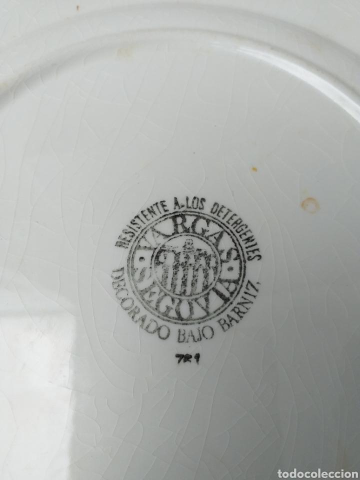 Antigüedades: Lote 6 platos antiguos de cerámica de Vargas Segovia - Foto 4 - 176173688