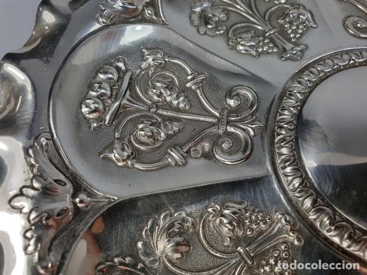 Antigüedades: BANDEJA EN PLATA LEY MARCADO CON CONTRASTE XIX - Foto 6 - 176183792