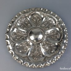 Antigüedades: BANDEJA EN PLATA LEY MARCADO CON CONTRASTE XIX. Lote 176183792