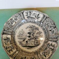 Antigüedades: ANTIGUO PLATO LLANO SARGADELOS SELLO INCISO. BUEN ESTADO. Lote 176186599