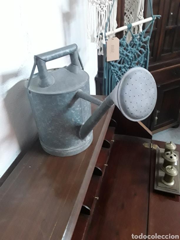 Antigüedades: Regadera de cinc - Foto 2 - 176196229