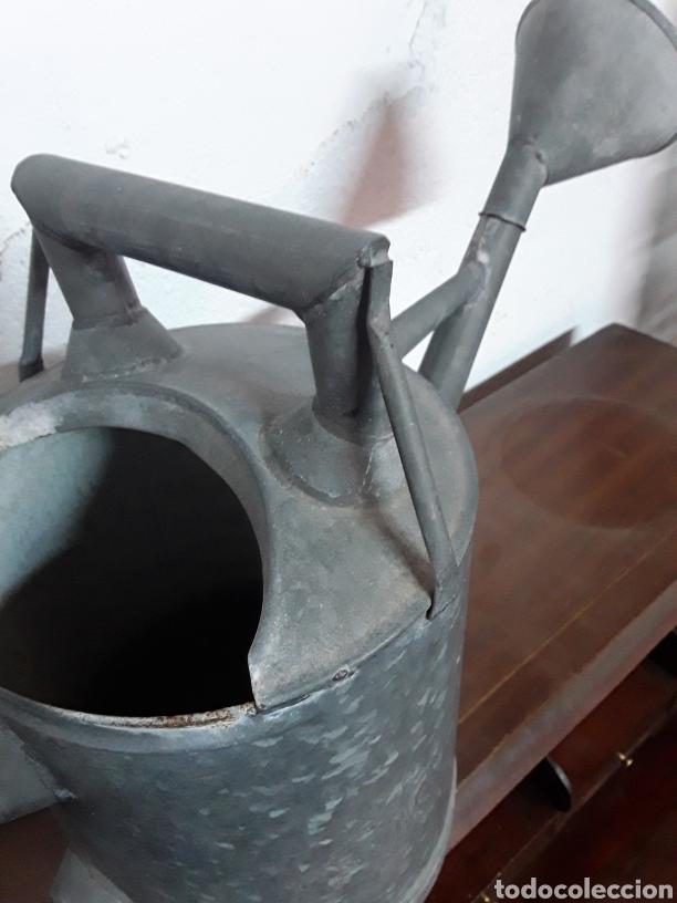 Antigüedades: Regadera de cinc - Foto 4 - 176196229